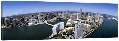 Aerial view of a city, Miami, Miami-Dade County, Florida, USA 2008 Canvas Print #PIM7914