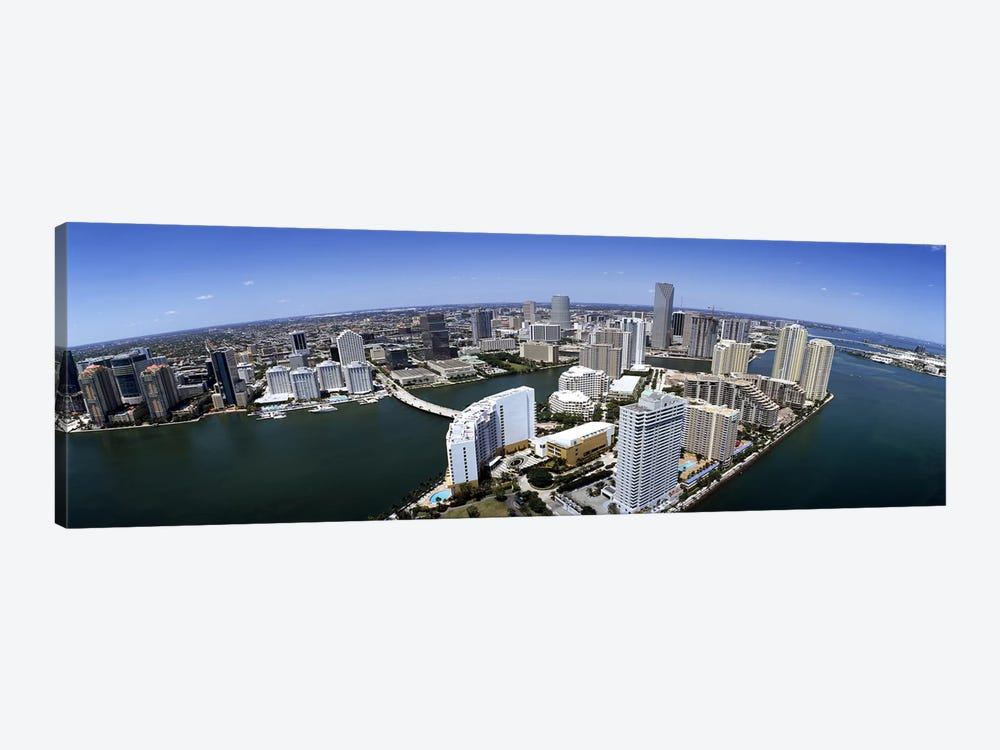Aerial view of a city, Miami, Miami-Dade County, Florida, USA 2008 by Panoramic Images 1-piece Canvas Print