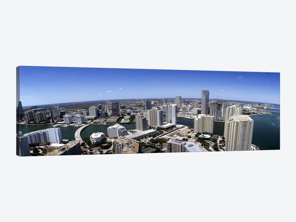Aerial view of a city, Miami, Miami-Dade County, Florida, USA 2008 #2 by Panoramic Images 1-piece Canvas Wall Art
