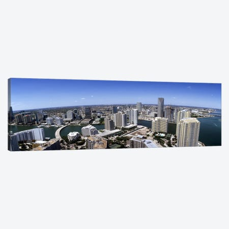 Aerial view of a city, Miami, Miami-Dade County, Florida, USA 2008 #2 Canvas Print #PIM7915} by Panoramic Images Canvas Art