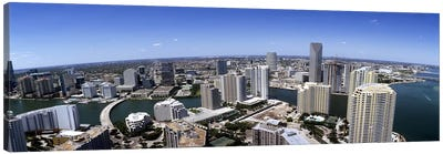 Aerial view of a city, Miami, Miami-Dade County, Florida, USA 2008 #2 Canvas Art Print
