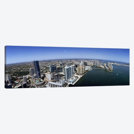 Aerial view of a cityMiami, Miami-Dade County, Florida, USA Canvas Print #PIM7916} by Panoramic Images Canvas Artwork