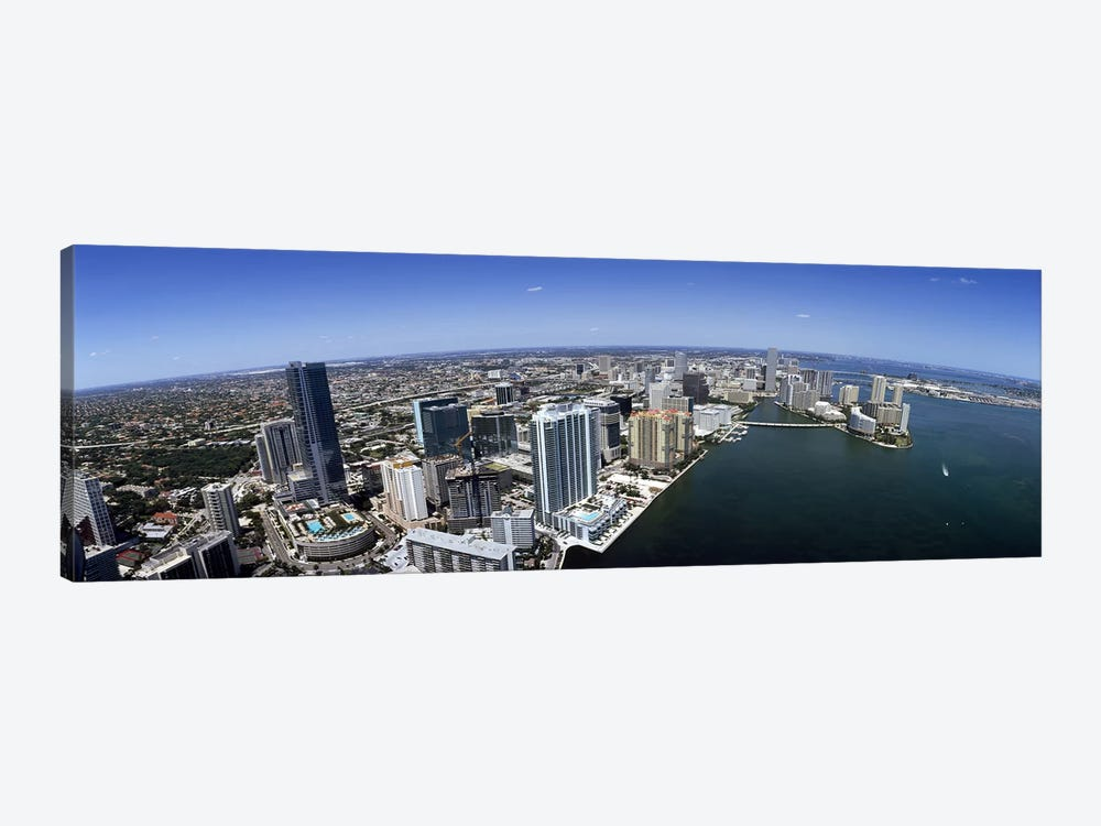 Aerial view of a cityMiami, Miami-Dade County, Florida, USA by Panoramic Images 1-piece Art Print