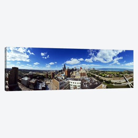360 degree view of a cityChicago, Cook County, Illinois, USA Canvas Print #PIM7917} by Panoramic Images Canvas Artwork
