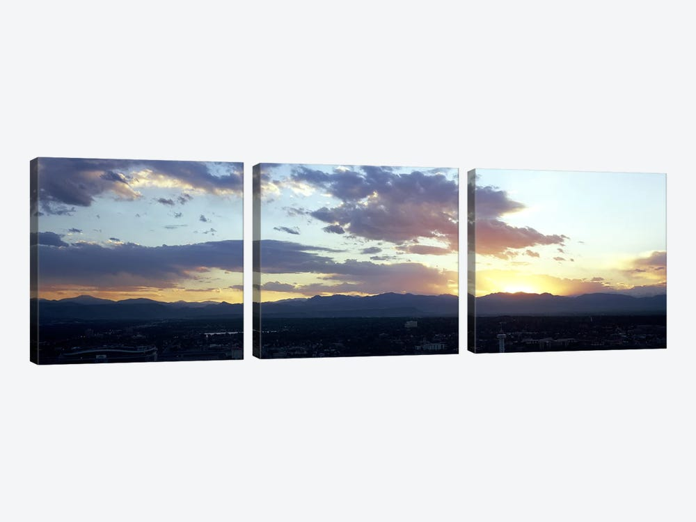 City at the sunriseDenver, Colorado, USA by Panoramic Images 3-piece Canvas Art Print
