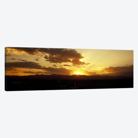 Silhouette of mountains at sunriseDenver, Colorado, USA Canvas Print #PIM7919} by Panoramic Images Canvas Print