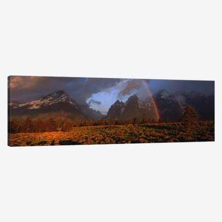 Sunrise & rainbow Grand Teton National Park WY USA Canvas Print #PIM791} by Panoramic Images Canvas Wall Art