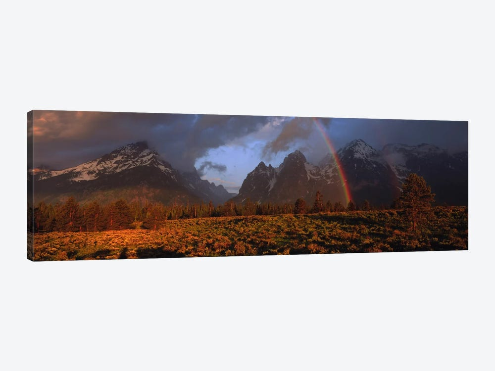 Sunrise & rainbow Grand Teton National Park WY USA by Panoramic Images 1-piece Canvas Print