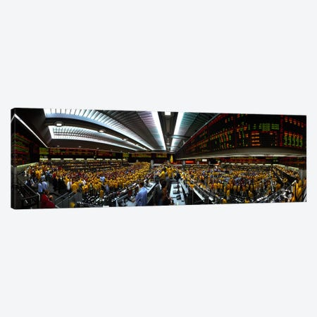 Interiors of a financial officeChicago Mercantile Exchange, Chicago, Cook County, Illinois, USA Canvas Print #PIM7920} by Panoramic Images Canvas Art