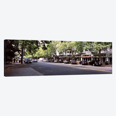 Cars parked at the roadsideCollege Avenue, Claremont, Oakland, Alameda County, California, USA Canvas Print #PIM7921} by Panoramic Images Canvas Artwork
