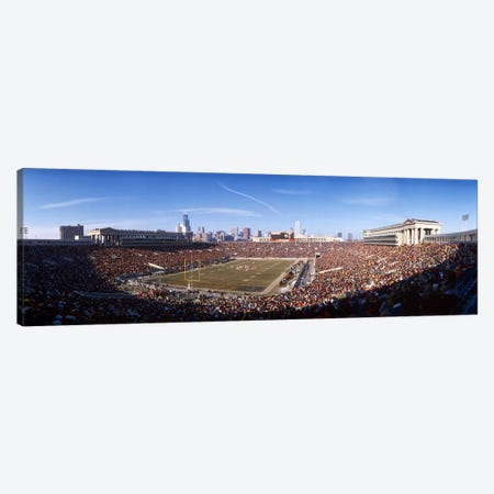 Spectators watching a football matchSoldier Field, Lake Shore Drive, Chicago, Cook County, Illinois, USA Canvas Print #PIM7922} by Panoramic Images Canvas Artwork