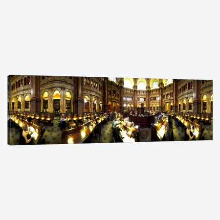 Interiors of the main reading room of a libraryLibrary of Congress, Washington DC, USA Canvas Print #PIM7923} by Panoramic Images Canvas Artwork