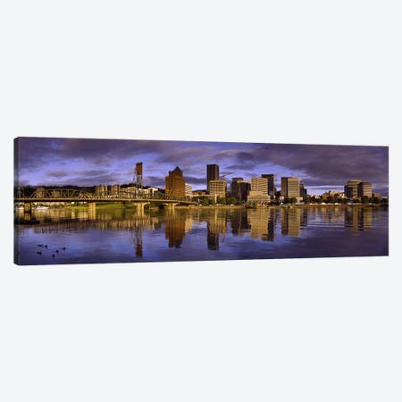 Buildings at the waterfront, Portland, Oregon, USA Canvas Print #PIM7928} by Panoramic Images Canvas Art