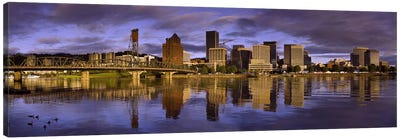 Buildings at the waterfront, Portland, Oregon, USA Canvas Art Print