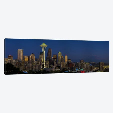 Skyscrapers in a citySpace Needle, Seattle, King County, Washington State, USA Canvas Print #PIM7929} by Panoramic Images Canvas Artwork