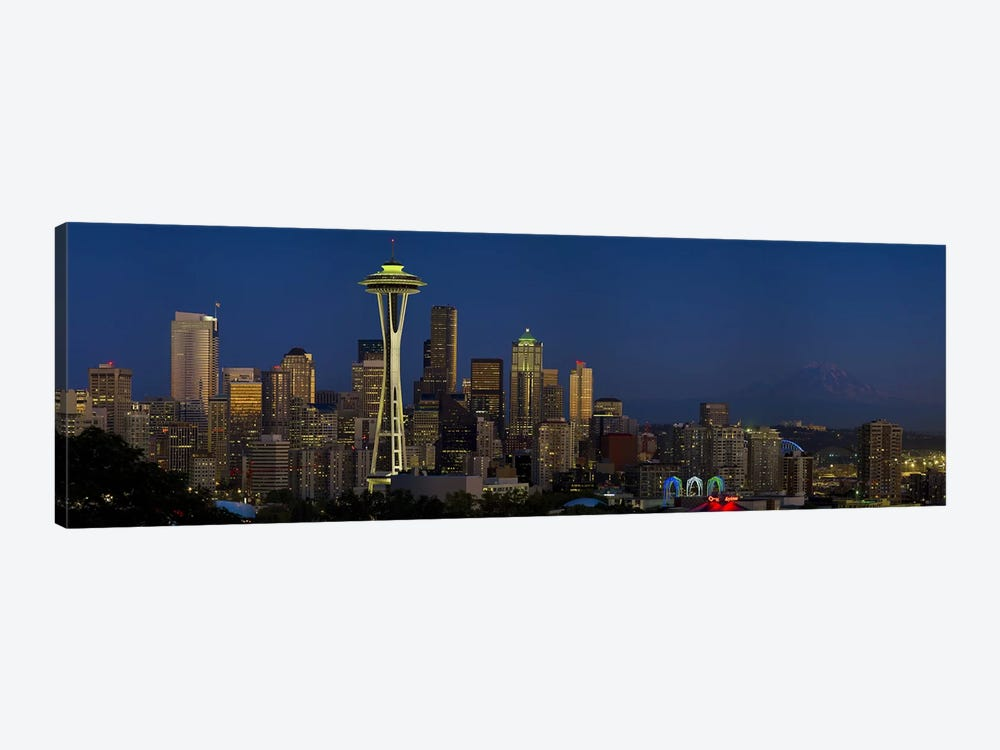 Skyscrapers in a citySpace Needle, Seattle, King County, Washington State, USA by Panoramic Images 1-piece Canvas Print