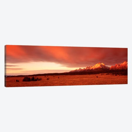 Sunrise Grand Teton National Park WY USA Canvas Print #PIM792} by Panoramic Images Canvas Art