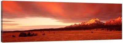 Sunrise Grand Teton National Park WY USA Canvas Print #PIM792