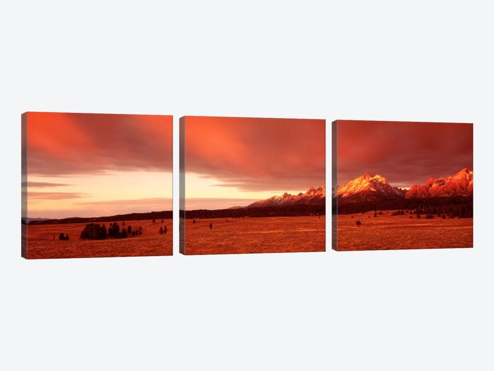 Sunrise Grand Teton National Park WY USA by Panoramic Images 3-piece Canvas Artwork