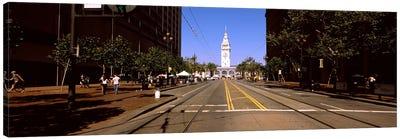 Tourists at a market place, Ferry Building, San Francisco, California, USA Canvas Print #PIM7930