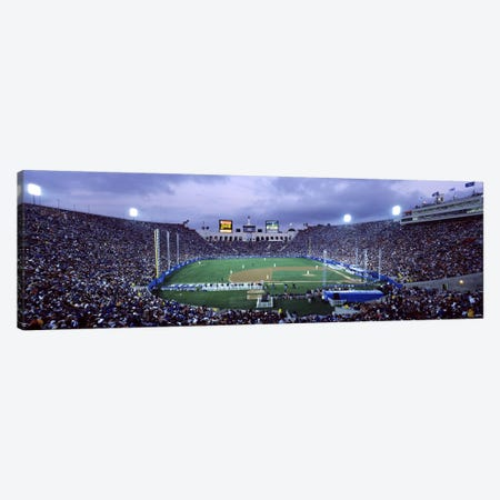 Spectators watching baseball match, Los Angeles Dodgers, Los Angeles Memorial Coliseum, Los Angeles, California, USA Canvas Print #PIM7931} by Panoramic Images Canvas Art Print