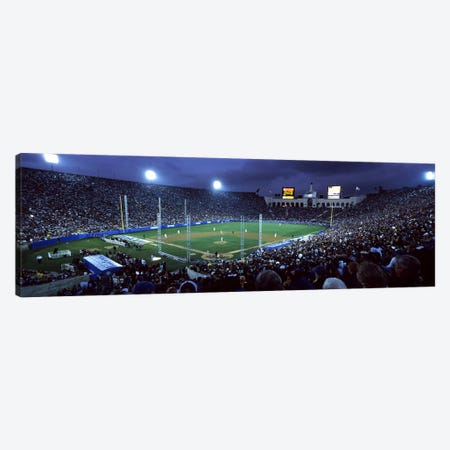 Spectators watching baseball match, Los Angeles Dodgers, Los Angeles Memorial Coliseum, Los Angeles, California, USA #2 Canvas Print #PIM7932} by Panoramic Images Art Print
