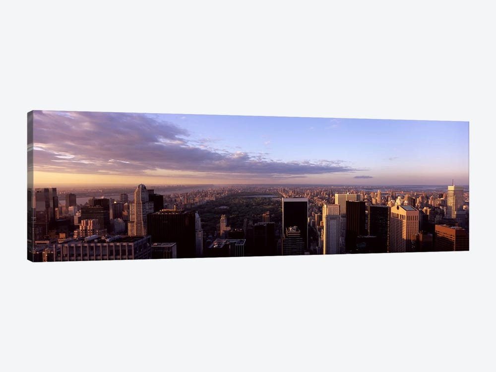 Cityscape at sunset, Central Park, East Side of Manhattan, New York City, New York State, USA 2009 by Panoramic Images 1-piece Canvas Wall Art