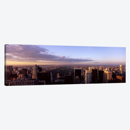 Cityscape at sunset, Central Park, East Side of Manhattan, New York City, New York State, USA 2009 Canvas Print #PIM7933} by Panoramic Images Art Print