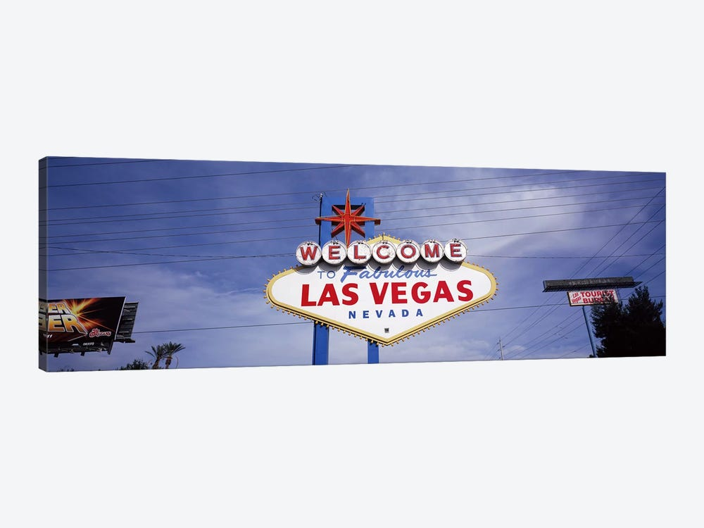 Low angle view of Welcome sign, Las Vegas, Nevada, USA by Panoramic Images 1-piece Art Print