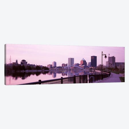 Buildings at the waterfront, Genesee, Rochester, Monroe County, New York State, USA Canvas Print #PIM7936} by Panoramic Images Canvas Art