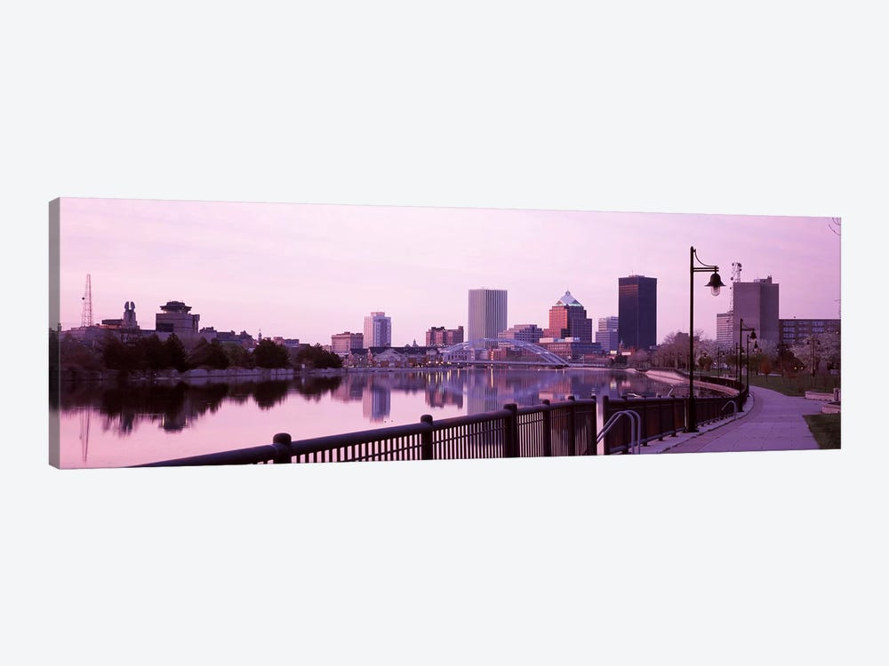 Buildings at the waterfront, Genesee, Rochester, Monroe County, New York State, USA by Panoramic Images 1-piece Canvas Art Print