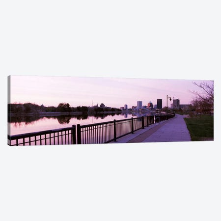 Buildings at the waterfront, Genesee, Rochester, Monroe County, New York State, USA #2 Canvas Print #PIM7937} by Panoramic Images Canvas Wall Art