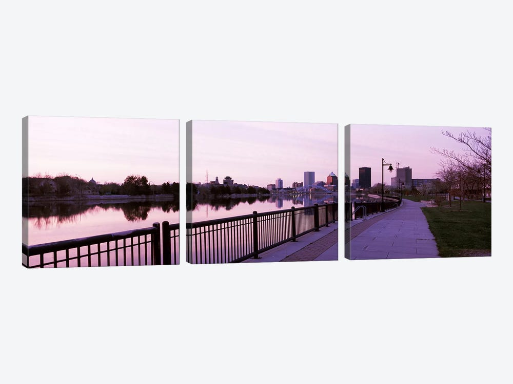 Buildings at the waterfront, Genesee, Rochester, Monroe County, New York State, USA #2 by Panoramic Images 3-piece Canvas Art