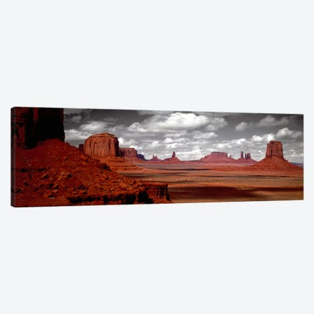 Cloudy Sky In B&W, Monument Valley, Navajo Nation, Arizona, USA, Canvas Print #PIM793} by Panoramic Images Canvas Wall Art