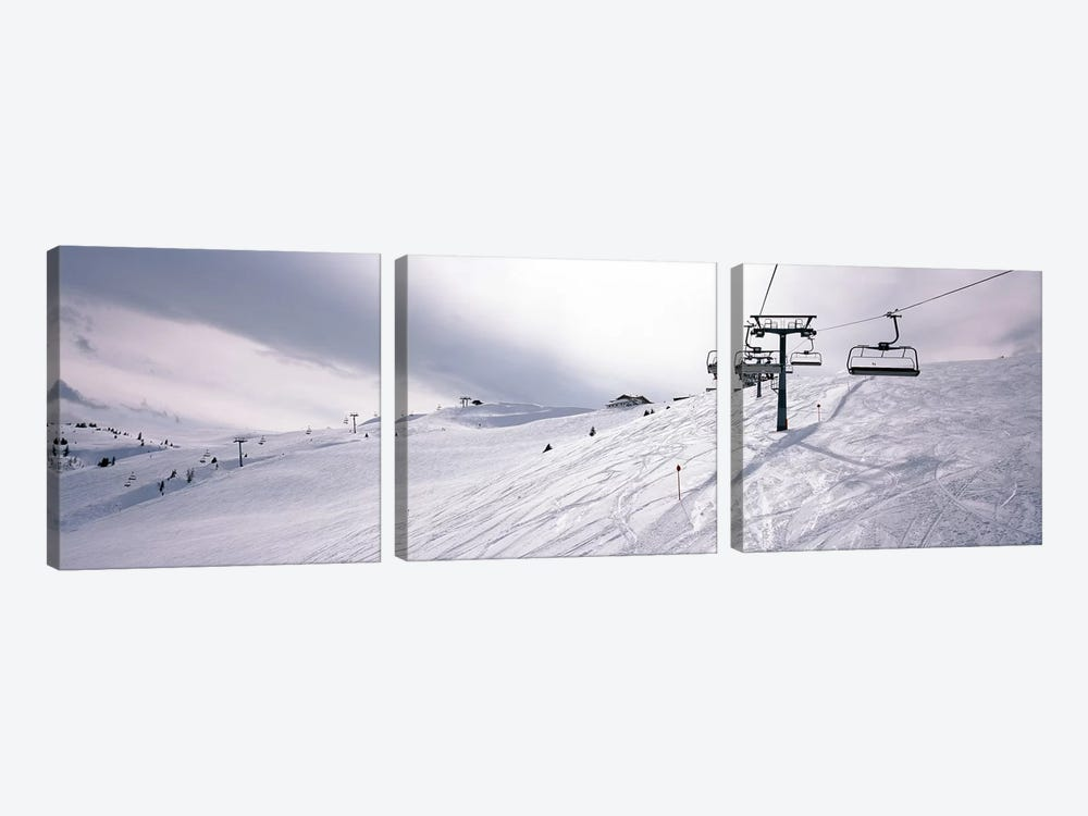 Ski lifts in a ski resort, Kitzbuhel Alps, Wildschonau, Kufstein, Tyrol, Austria 3-piece Art Print