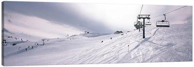 Ski lifts in a ski resort, Kitzbuhel Alps, Wildschonau, Kufstein, Tyrol, Austria Canvas Art Print