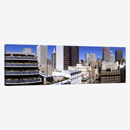 Skyscrapers in a city viewed from Union Square towards Financial District, San Francisco, California, USA Canvas Print #PIM7946} by Panoramic Images Art Print