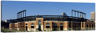 Baseball park in a city, Oriole Park at Camden Yards, Baltimore, Maryland, USA Canvas Print #PIM7950