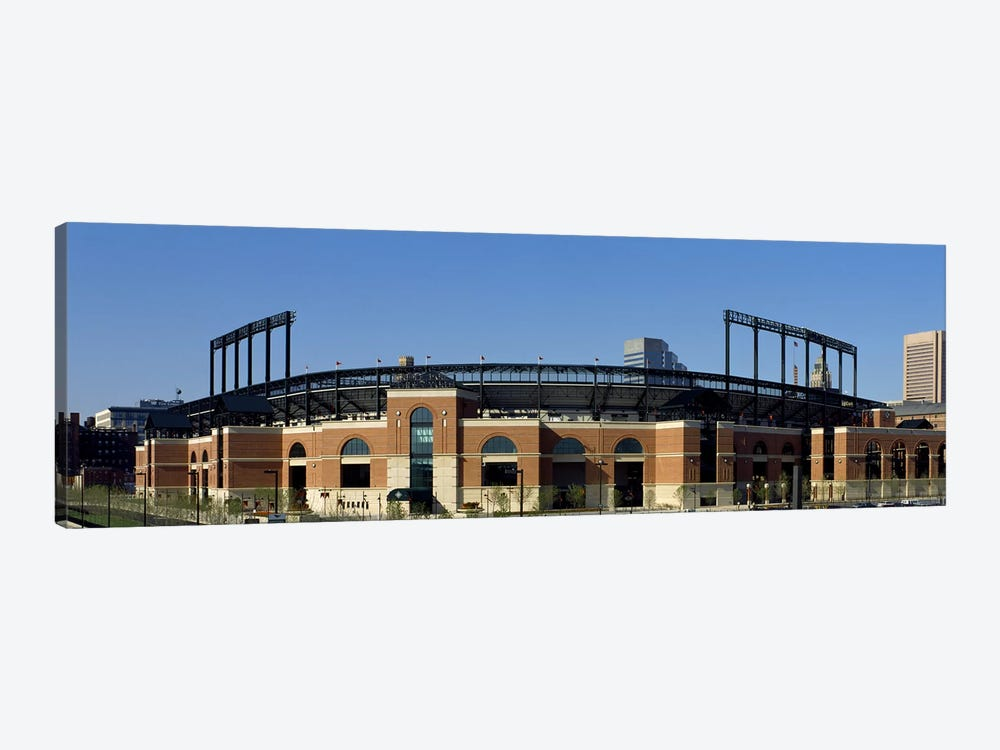 Baseball park in a city, Oriole Park at Camden Yards, Baltimore, Maryland, USA by Panoramic Images 1-piece Canvas Art Print