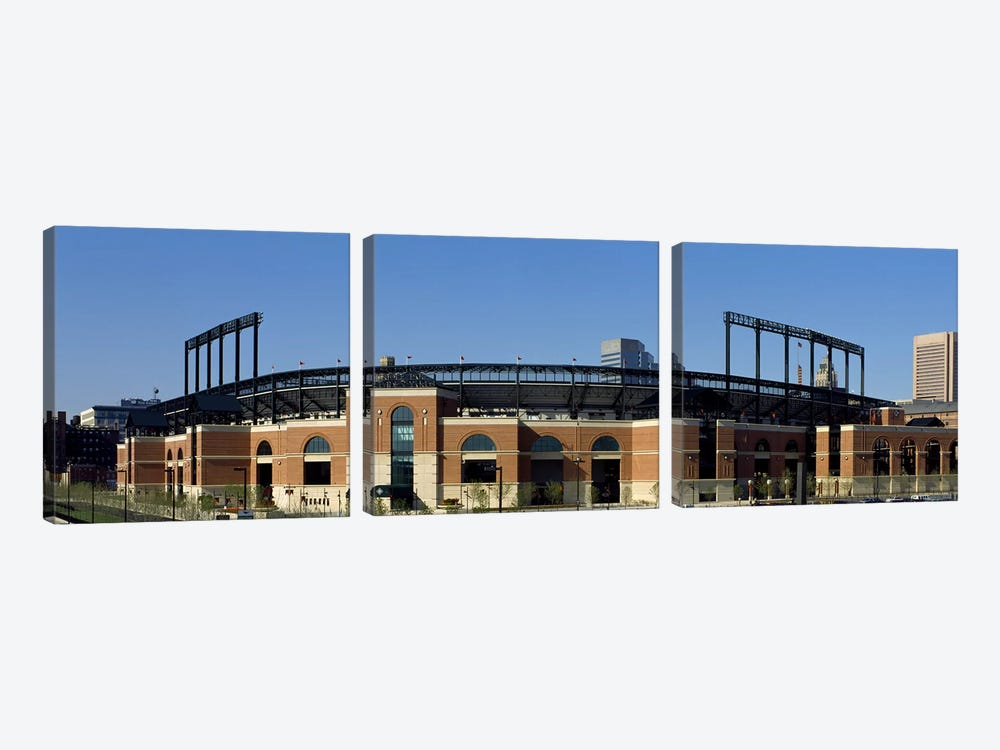 Baseball park in a city, Oriole Park at Camden Yards, Baltimore, Maryland, USA by Panoramic Images 3-piece Canvas Print