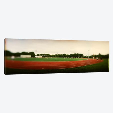 Running track in a park, McCarran Park, Greenpoint, Brooklyn, New York City, New York State, USA Canvas Print #PIM7958} by Panoramic Images Canvas Art Print