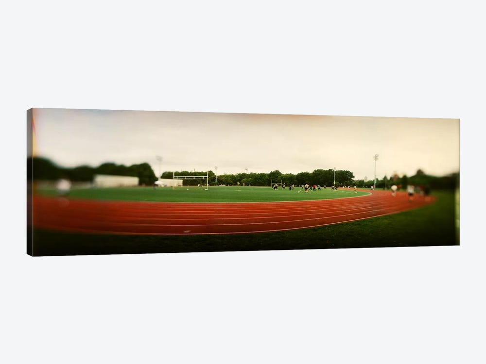 Running track in a park, McCarran Park, Greenpoint, Brooklyn, New York City, New York State, USA by Panoramic Images 1-piece Canvas Print