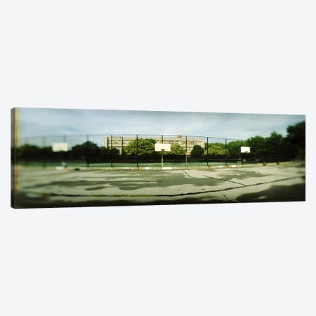 Basketball court in a public park, McCarran Park, Greenpoint, Brooklyn, New York City, New York State, USA Canvas Print #PIM7962} by Panoramic Images Canvas Artwork
