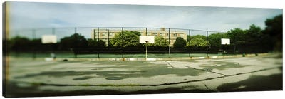 Basketball court in a public park, McCarran Park, Greenpoint, Brooklyn, New York City, New York State, USA Canvas Art Print