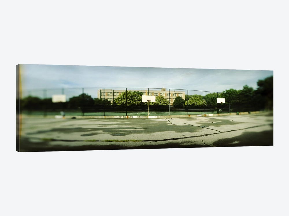 Basketball court in a public park, McCarran Park, Greenpoint, Brooklyn, New York City, New York State, USA by Panoramic Images 1-piece Canvas Artwork