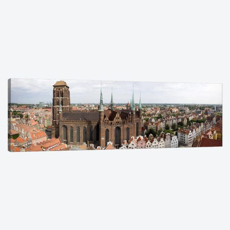 Cathedral in a citySt. Mary's Church, Gdansk, Pomeranian Voivodeship, Poland Canvas Print #PIM7963} by Panoramic Images Canvas Artwork