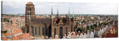 Cathedral in a citySt. Mary's Church, Gdansk, Pomeranian Voivodeship, Poland Canvas Print #PIM7963