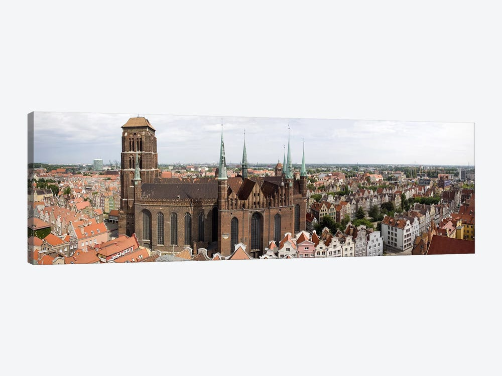 Cathedral in a citySt. Mary's Church, Gdansk, Pomeranian Voivodeship, Poland by Panoramic Images 1-piece Art Print