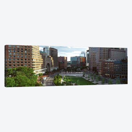 Buildings in a city, Atlantic Avenue, Wharf District, Boston, Suffolk County, Massachusetts, USA Canvas Print #PIM7967} by Panoramic Images Art Print