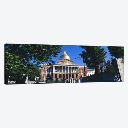 Facade of a government building, Massachusetts State Capitol, Boston, Suffolk County, Massachusetts, USA Canvas Print #PIM7968} by Panoramic Images Canvas Wall Art